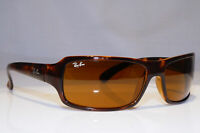 RAY-BAN Mens Womens Vintage 1990 Sunglasses Brown Rectangle RB 4075 642 22660