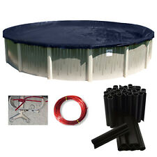 24' Ft Round Deluxe Above Ground Swimming Pool Winter Cover 10 Yr w/ Cover Clips