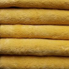 "1/6 yd Vis1 Golden Yellow Intercal 6mm ""Flat"" Med. Dense German Viscose Fabric"