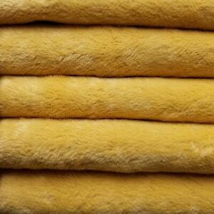 "1/4 yd VIS1 Golden Yellow INTERCAL 6mm ""Flat"" Med. Dense German Viscose Fabric"
