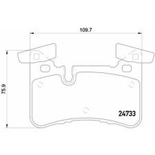 Bremsbelagsatz Scheibenbremse - Brembo P 50 110