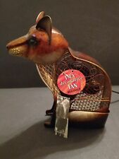 Deco Breeze Fox Figurine Metal Electic Table Fan,  New With Tags