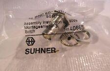 2 Stück - BNC Einbaubuchse crimp 50Ω , HQ Huber+Suhner - 24BNC50-2-13c/133