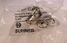 2 Stück - BNC Einbaubuchse crimp 50Ω , HQ Huber+Suhner - 24BNC50-2-13c/133 2pcs