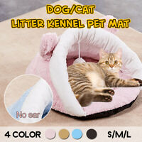 Pet Cat Dog Nest Bed Puppy Soft Warm Cave House Winter Sleeping Bag Mat Pad Y