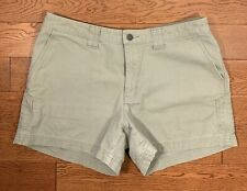 Patagonia Womens Grey/green Organic Cotton Shorts Size 10