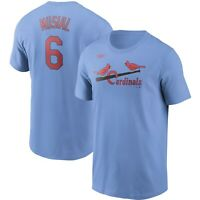 Nike St. Louis Cardinals Stan Musial #6 Cooperstown Collection Name & # T-Shirt