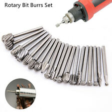 20pcs HSS Head Carbide Burrs Rotary Drill Die Grinder Carving Multi Tool Bit Set