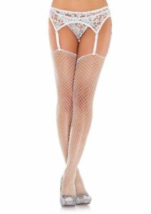 Exotic Spandex Industrial Net stockings with unfinished top. Leg Avenue 9040