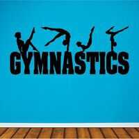 Gymnastics Wall Decal Gymnastics Sticker Removable Gymnast Wall Art Design
