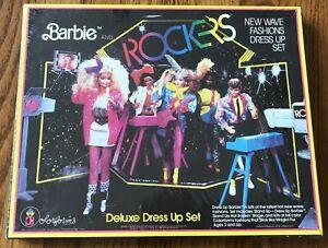 Barbie & The Rockers Deluxe Dress Up Set Colorforms Mattel 1984 NRFB Sealed