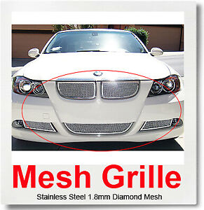 FOR 06-07 BMW 325I/330I Stainless Steel Mesh Grille Combo