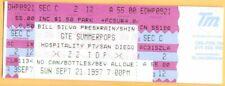 1997 ZZ TOP concert ticket San Diego BILLY GIBBONS DUSTY HILL FRANK BEARD 9/21