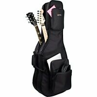 Protec CF234DBL Double Electric Guitar Gig Bag, Gold Series (Fits Strat, Tele,