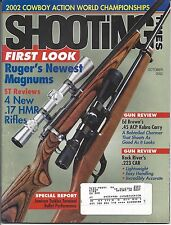 Shooting Times October 2002 Rugers newest magnums new .17 HMR rifles