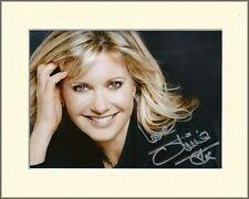 OLIVIA NEWTON JOHN GREASE PP 8x10 MOUNTED SIGNED AUTOGRAPH PHOTO