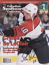 John LeClair Philadelphia Flyers Autographed Canadian Sportscard Mag W/COA '97 B