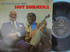 Joe Venuti & Earl Hines ORIG US LP Hot sonatas EX '76  Chiaroscuro Jazz Dixielan