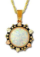 Landstrom's® Stunning 10K Black Hills Gold Opal Pendant