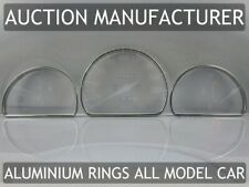 Toyota Starlet P9 1996-1999  Dash Instrument Chrome Rings Polished Aluminium x3