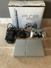 Sony Playstation 2 - PS2 Silver Slim Console - PAL - Boxed