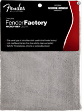Genuine FENDER MICROFIBRE CLOTH - GREY - LINT FREE - GIFT IDEA GUITAR PLAYER