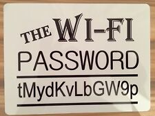 Wi-Fi PERSONALISED Password Metal Sign (Add Your Password) All Colours Available