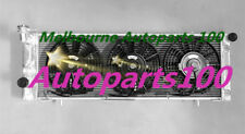 Aluminum radiator + Fans for Jeep Cherokee XJ 2.5 4.0 trans cooler driver side