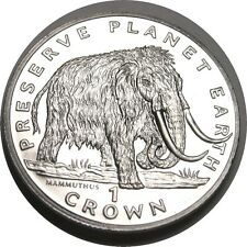elf Isle of Man IOM 1 Crown 1994 Woolly Mammoth