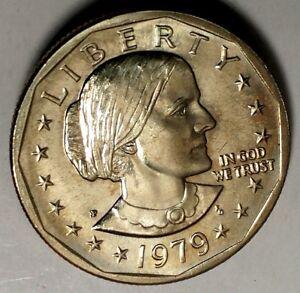 1979-P $1 Susan B Anthony Dollar BU d1716lrr 70 Cents Shipping