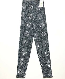 Soul Flower Dark Star Leggings Women's S M L 2XL Black Gray New All Over Print