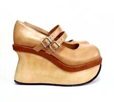 Vintage Demonia Khaki Platform Mary Jane Heels Shoes10