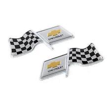 2Pcs F1 Flag Car Auto Styling Decor Decal Badge Emblem Fits for Chevrolet
