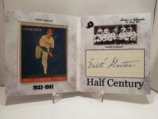 2020 Historic Autographs Half Century Milton Gaston Cut Auto