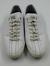 K-Swiss Mens White Leather Tennis Sneakers Shoes Size 8.5M