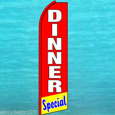 DINNER SPECIAL Red FLUTTER FEATHER FLAG Swooper Tall Advertising Sign Banner