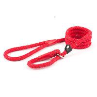 Ancol Resistente Perro Cachorro Reflectante Nailon Deslizante Cuerda Cable Rojo