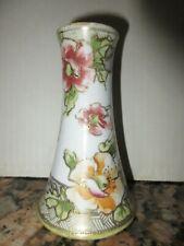 Nippon Noritake Hat Pin Holder Hand Painted Rc Royal Crockery Poppies / Flowers
