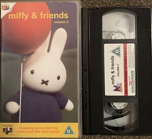 MIFFY AND FRIENDS-VHS VIDEO VOLUME 2. 10 EXCITING STORIES-RARE CHILDREN'S VIDEO.