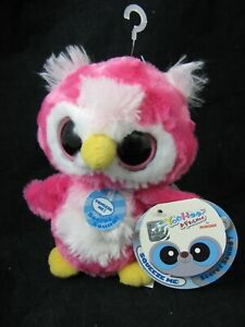 Yoohoo & Friends Loonee Snowy Owl Plush Pink Big Eye Sound Aurora Stuffed Animal