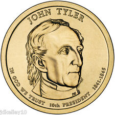 2009-P JOHN TYLER - PRESIDENTIAL DOLLAR COIN FROM UNC US MINT ROLLS