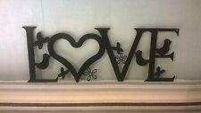 Love with Birds, Butterflies & flowers - Metal Wall/Door Art