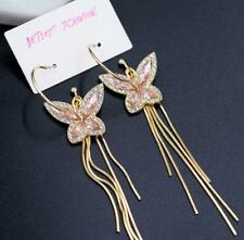 New Betsey Johnson Crystal Rhinestone Butterfly Drop Earrings Fashion Jewelry