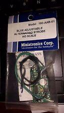 Miniatronics HO Scale Blue Adjustable Alternating Strobe Light 100-AAB-01