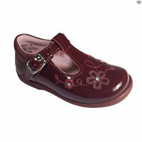 Startrite Sunflower Girls Wine Patent Winter Casual Shoes Size UK 3 - 8.5 E F G
