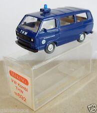 MICRO WIKING HO 1/87 VW KOMBI COMBI MINIBUS T3 THW IN BOX