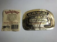 2x Original Vintage Labels Of 12 Years Old Scotch Malt Whiskey.Rare. Collectable