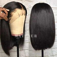 Short Bob Lace Front Wigs Synthetic Glueless Black Straight Hair Heat Resistant