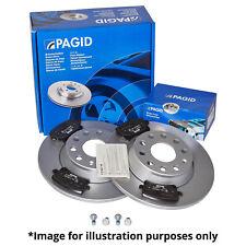 GENUINE PAGID REAR AXLE BRAKE KIT BRAKE DISCS 54407 Ø 310 mm & BRAKE PADS T1377