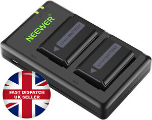 Neewer NP-FW50 Camera Battery Charger Set for Sony II 2-Pack, Versatile Charging